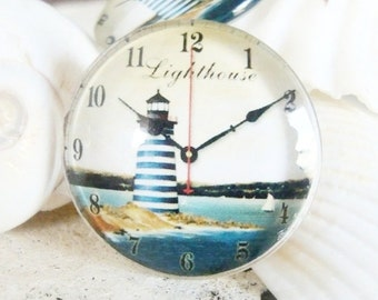 Light House Clock Glass dome Cabochon 25mm