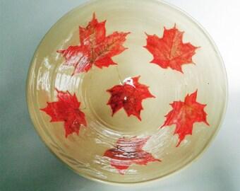 O Canada Maple Leaf Bowl