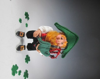 Bailey the Leprechaun Plays the Bagpipes/Hand Sculpted Art Doll