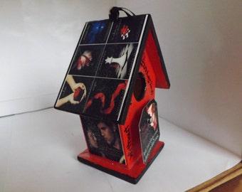 The Twilight Saga Tribute Birdhouse Ornament, Book Ornament, Movie Ornament, Bella, Edward, Vampires, werewolf,Stephenie Meyer,Cullen
