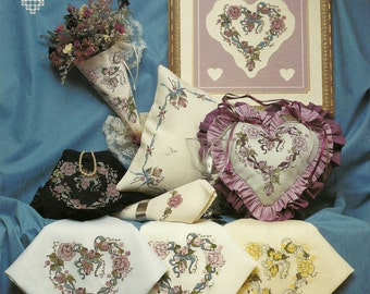 Ribbons and Roses Cross Stitch Chart