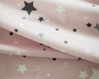Cotton Fabric Star Pink By The Yard