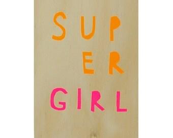 SUPER GIRL ply artwork