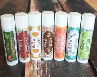 Handmade Flavored Lip Balm - 15 Assorted Flavors to Pick From / Beeswax Lip Balm
