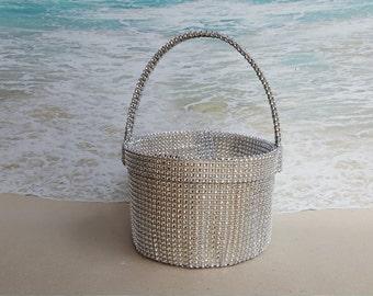 Custom Bling Flower Girl Basket