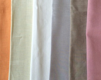Linen fabric remnants color mix natural linen for sewing crafts patchwork home textile