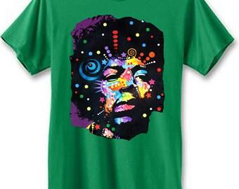 Jimi Hendrix Neon Space Men's Short Sleeve T-Shirt | U.S. Custom Ink