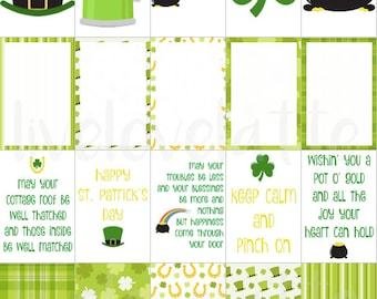 for use with Happy Planner (ST PATRICK'S DAY) Stickers - digital - Instant Download