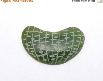 8% Valentines Day SALE Green Jade Quartzite Cabachon for Jewelry designs flat back (RK14B7-19)