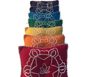 Crystal Pillow Set/ Reiki Tools/ Meditation Pillow/ Reiki Session/ Meditation Room/ Reiki Healing/ crystal cushion