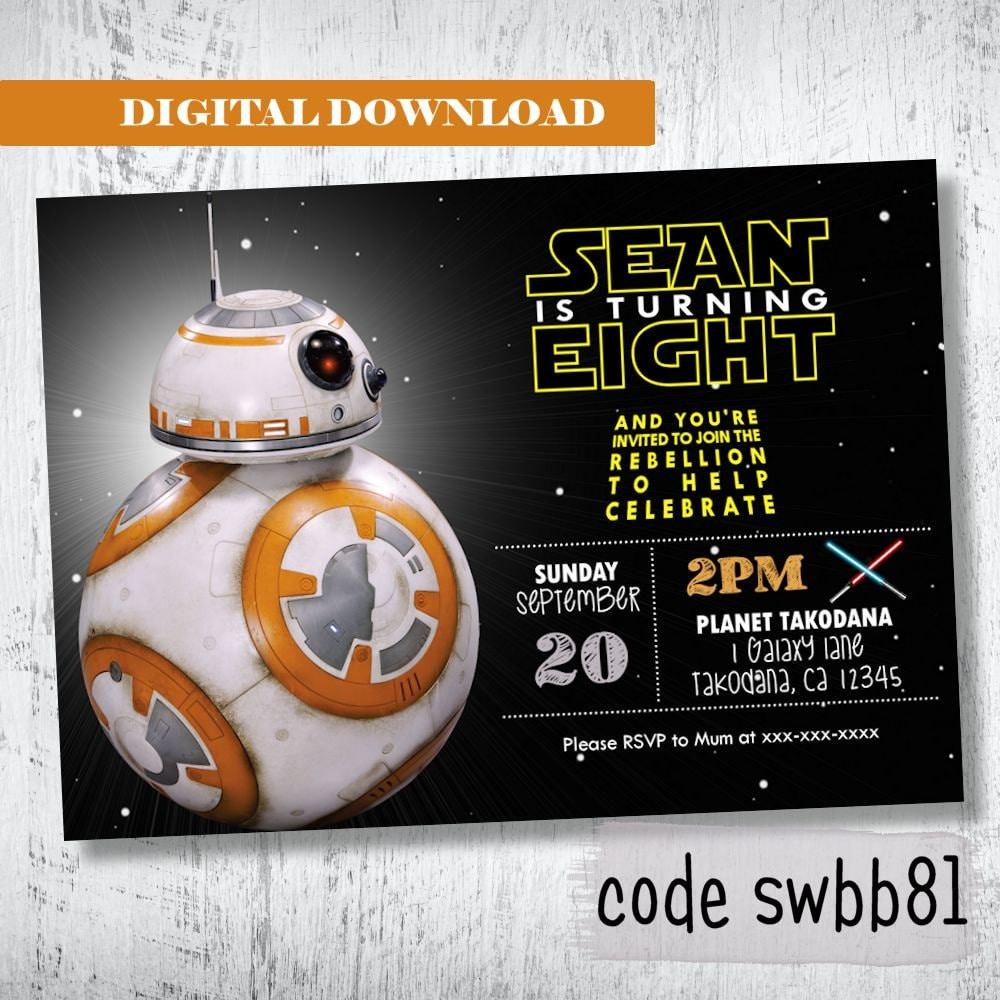 Star Wars Birthday Invitation with amazing invitation sample
