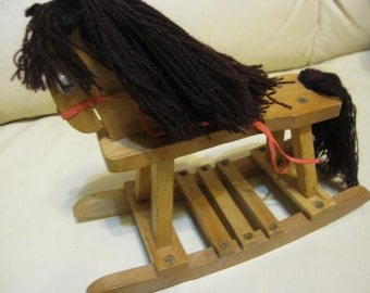 Wooden Rocking Horse for Dolls