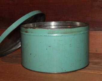 Vintage Robin's Egg Blue Heekin Can Company Tin