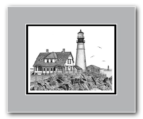 Portland Head Lighthouse Matted Limited Edition Print