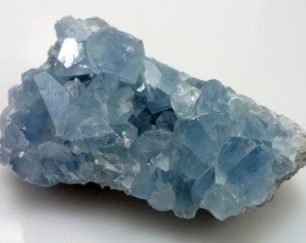 Beautiful BLUE CELESTITE Crystal Cluster Specimen from Madagascar Natural Rough Raw Crystals Celestine 1