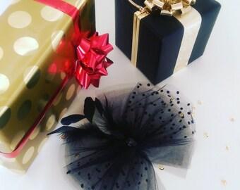 French Style Hair Fascinator, Flower Girl, Engagement, Wedding, Christmas, Skirt, Bridal Shower, Brides maids gift, Tulle skirt, Petticoat