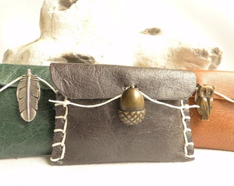 Emergency Sewing Kit - Travel Sewing Kit - Sewing Kit - Needle Case - Needle Book - Acorn -  Fox