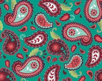La Vie Boheme fabric, Riley Blake Designs, Paisley in Teal (C4741-Teal) -- BY THE YARD