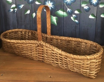 Handmade Basket, Spice Basket,Primitive Decor,  Decorative Basket, Kitchen Decor, Made in USA