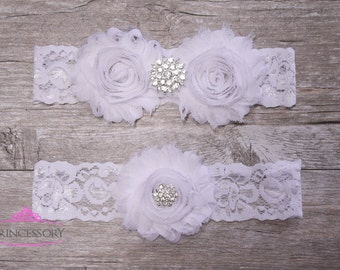 lace garter, Wedding Garter Set, Bridal Garter, White Lace Garter, Vintage Garter, white garter, garter set, lace wedding garter WG01