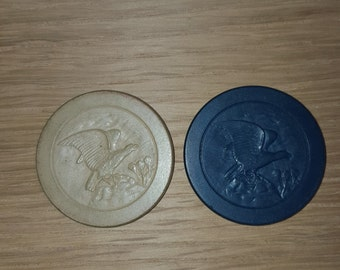 Eagle on a Rock poker chip (2) -PRICE INCLUDES SHIPPING
