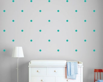 Decals Decal Dots Fabric Wall Stickers Non-Toxic Nursery Decor Bedroom Decor
