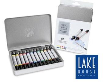 Watercolor Markers Professional Set 12 Count. Winsor Newton Water Color Marker Pens