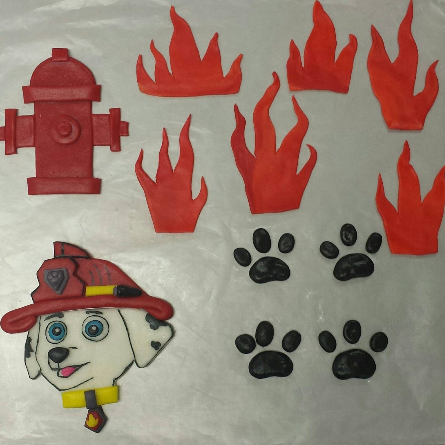 Firefighter Cupcake Decorations Fire Engine Cake Topper Singapore Cake