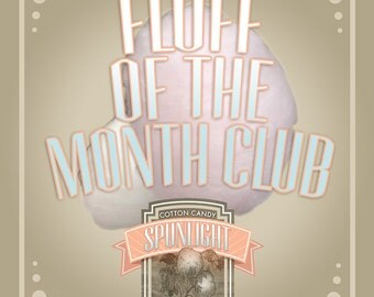 Fluff of the Month Club, 4 flavors of organic cotton candy to your door every month!