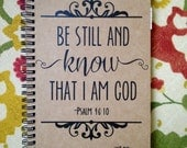 Personalized Journal: 'Be still and know that I am God'