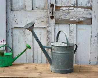 Vintage Galvanised or Zinc Watering Can