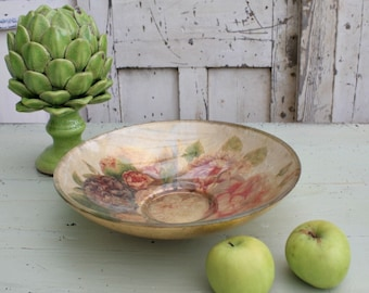 Vintage Decorated Glass Bowl or Dish