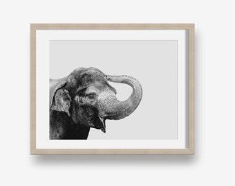 Elephant - Printable photography, Printable nursery art, decor, instant download, gender neutral, geometric, baby decor, elephant print