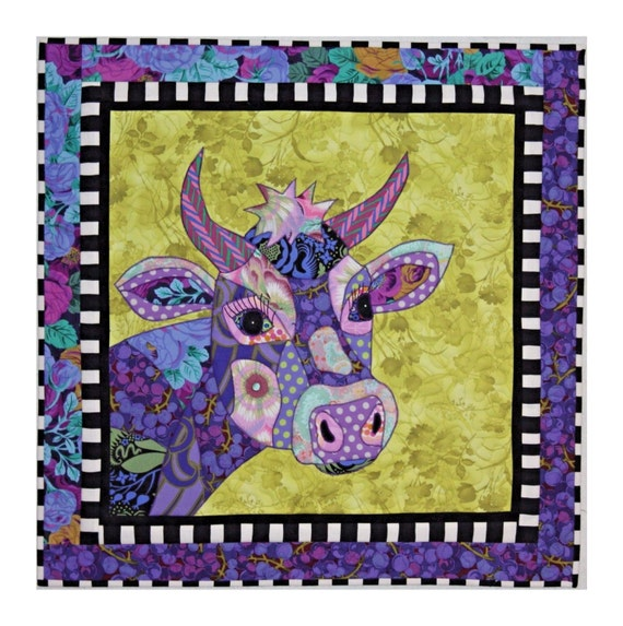 BJ Designs & Patterns Jersey Girl Cow Applique Quilt Pattern from ... : cow quilt pattern - Adamdwight.com