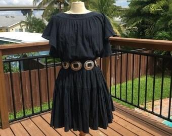 Vintage Ruffled Gauze Dress