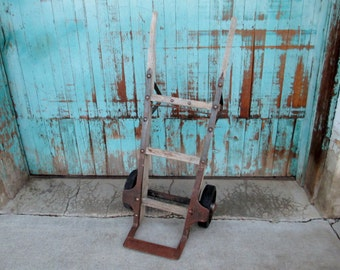 Hand Truck; Dolly, Hand Dolly, Industrial Hand Truck, Industrial Hand Dolly, Repurposed Hand Truck