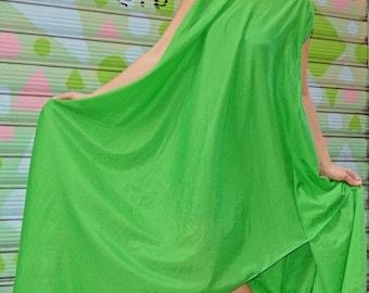 ON SALE 25% OFF Extravagant Green Kaftan / Asymmetrical Maxi Dress / Green Loose Dress / Green Playful Dress Tdk194