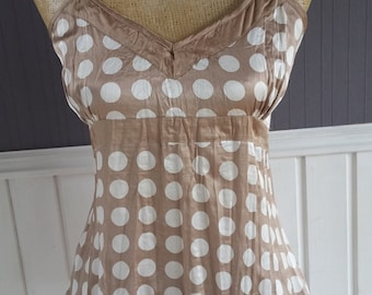 Ladies Camisole Style Top, Strappy Summer Top, Polka Dot Blouse