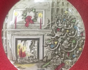 """Johnson Brother's """"Merry Christmas"""" goblet coaster"""