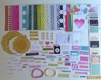 Inspiration pack, scrapbooking pack, DIY kit, gift wrapping kit, scrapbooking kit, variety pack