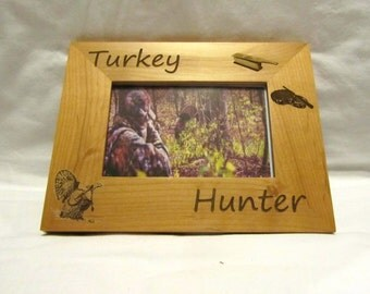 Personalized Wooden Picture Frame- Turkey Hunter