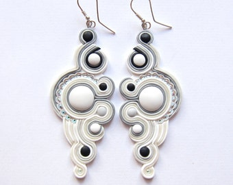 Wedding Earrings Wedding Jewelry Bridal Earrings Bridal Jewelry Bridesmaid Earrings Jewelry White Long Big Huge Earrings Jewelry Jewellery
