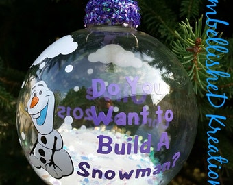 2016 Personalized Christmas Ornament/Olaf Ornament/Frozen