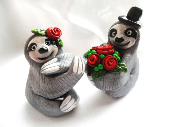sloth wedding cake topper sloth wedding cake topper choose your colors wedding cake 20197