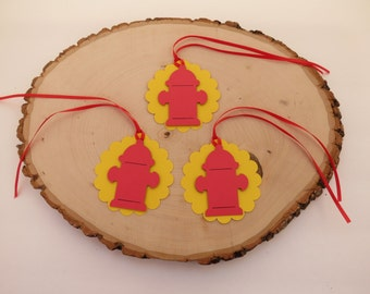 Fire Hydrant - Favor Tags - Set of 12
