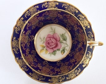 Cobalt Paragon China Tea Cup and Saucer Teacup Set