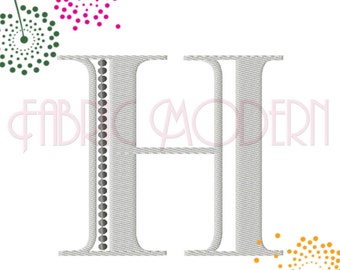 "FANCY 2 color MONOGRAM Font Embroidery, three sizes, bx, monogram alphabet, 3, 3.5 and 4"" #534"