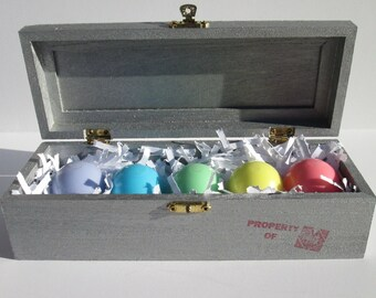 Final Fantasy VII inspired ShinRa large trinket box with Materia set