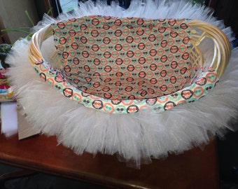 Lined Basket with Tulle