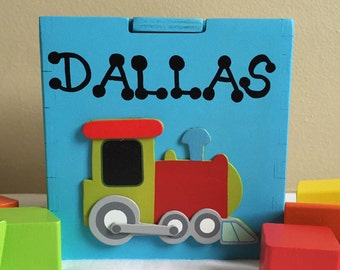 Personalized shape sorting cube customized toddler toy personalized baby toys train blue shape sorting box educational montessori toys for babies gift for one negle Image collections